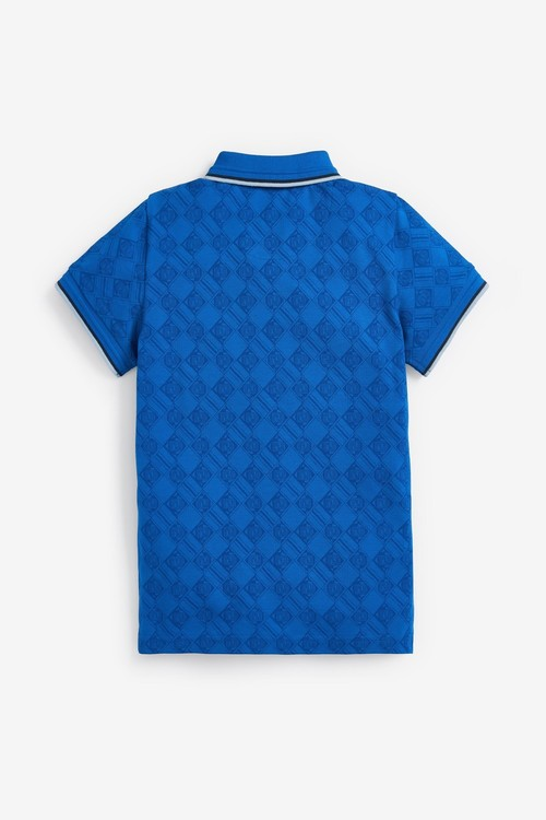 Next Short Sleeve Logo Printed Poloshirt (3-16yrs)