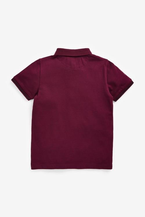 Next Short Sleeve Two Tone Textured Collar Poloshirt (3-16yrs)