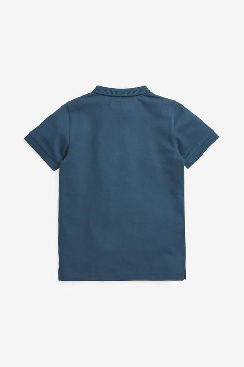Next Textured Zip Poloshirt (3-16yrs)