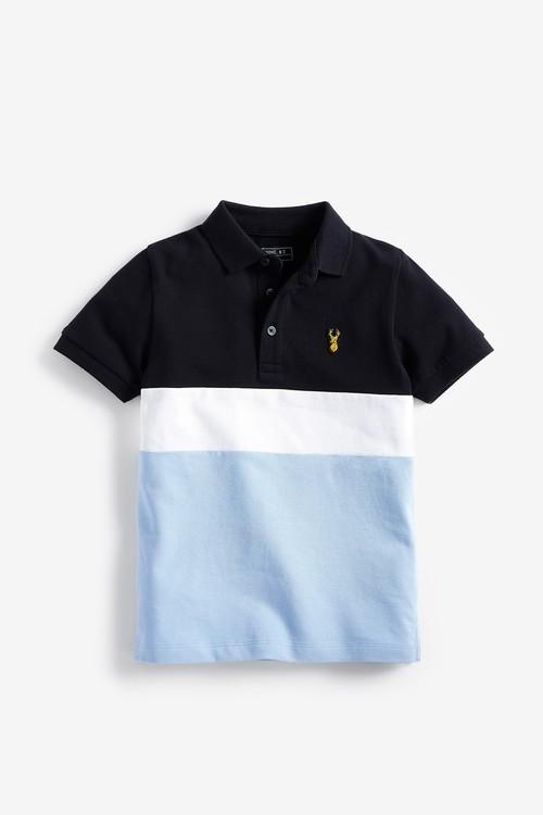 Next Colourblock Short Sleeve Polo (3-16yrs)