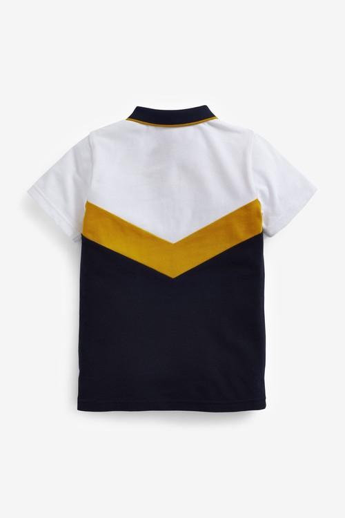 Next Short Sleeve Colourblock Poloshirt (3-16yrs)