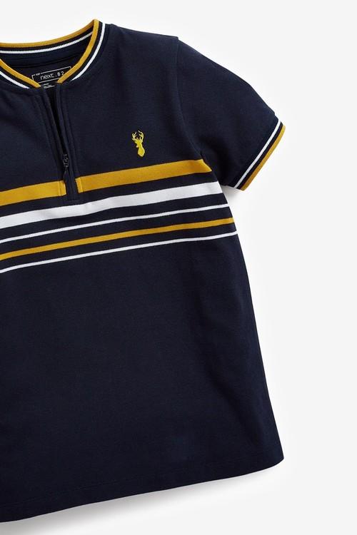 Next Stripe Baseball Collar Polo Top (3-16yrs)