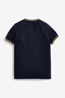 Next Stripe Baseball Collar Polo Top (3-16yrs) - 291393
