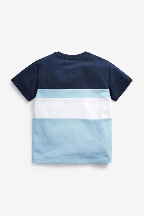 Next Colourblock Short Sleeve Pique T-Shirt (3-16yrs)
