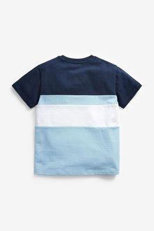 Next Colourblock Short Sleeve Pique T-Shirt (3-16yrs) - 291398