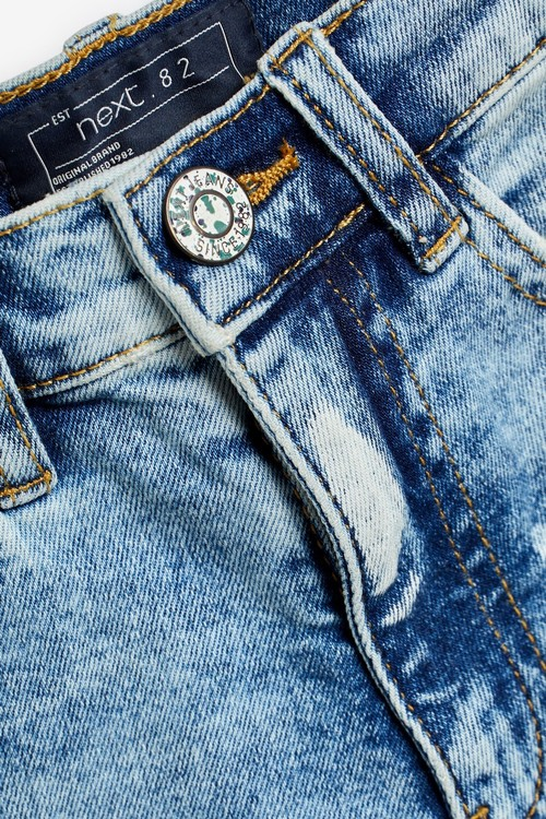 Next Premium Distressed Denim Shorts (3-16yrs)