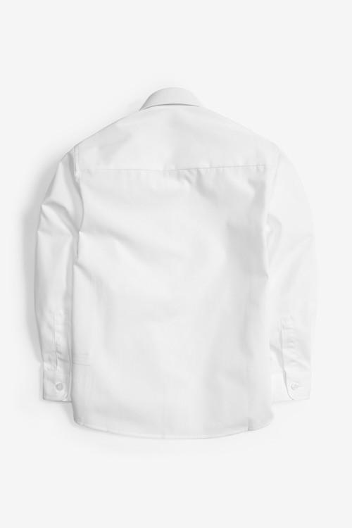 Next 2 Pack Velcro Fastening Long Sleeve Shirts (3-12yrs)