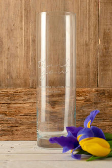 Personalised Thank You Glass Vase - 291485