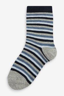 Next 7 Pack Stripe Cotton Rich Socks (Older) - 291514