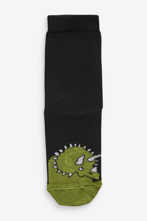Next 7 Pack Cotton Rich Muted Dino Socks (Older)