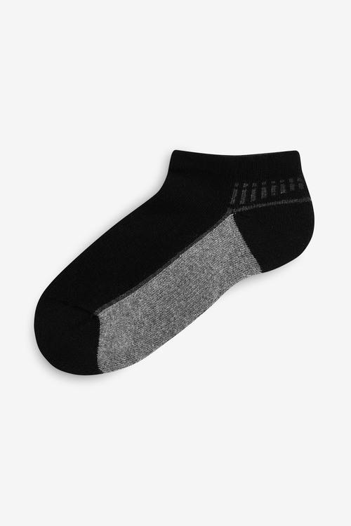 Next 5 Pack Cushioned Footbed Trainer Socks (Older)