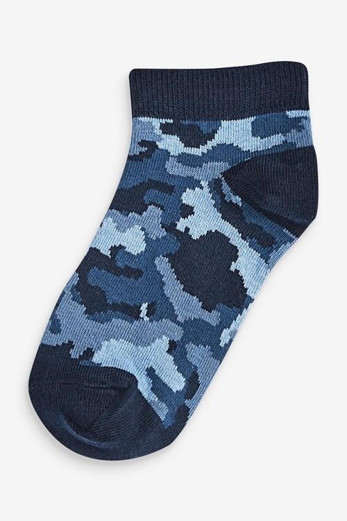 Next 7 Pack Cotton Rich Camo Trainer Socks (Older)