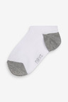 Next 7 Pack No Show Cotton Rich Trainer Socks (Older)
