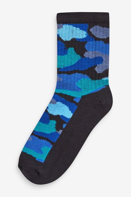 Next 5 Pack Cotton Rich Cushioned Sports Socks (Older)