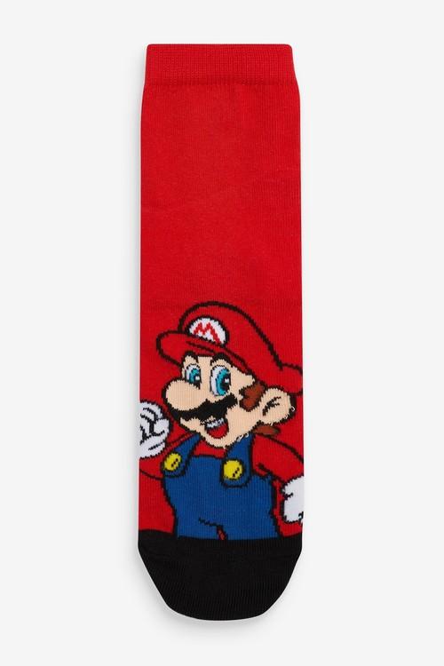 Next 3 Pack Cotton Rich Super Mario Socks (Older)