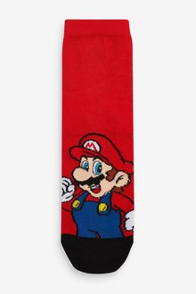 Next 3 Pack Cotton Rich Super Mario Socks (Older) - 291541