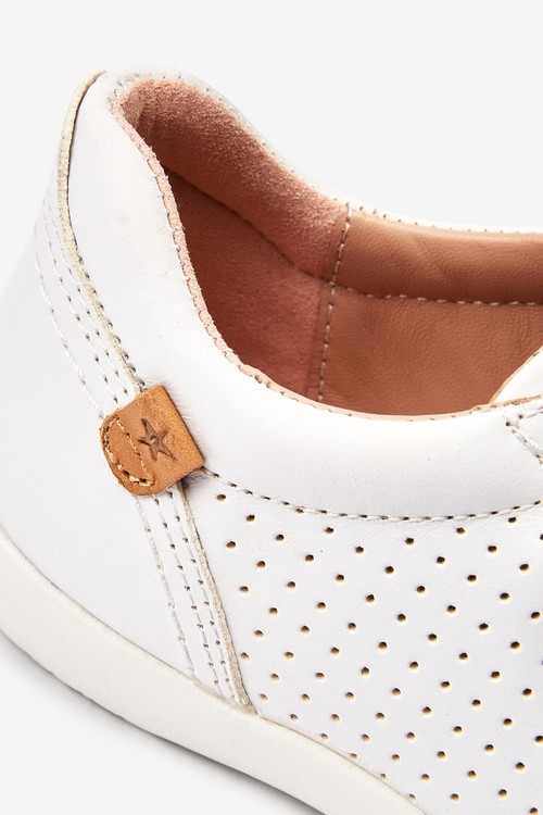 Next Premium Leather Touch Fastening Shoes (Younger)