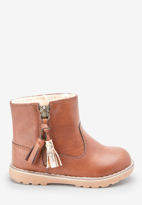 Next Warm Lined Tassel Ankle Boots (Younger)