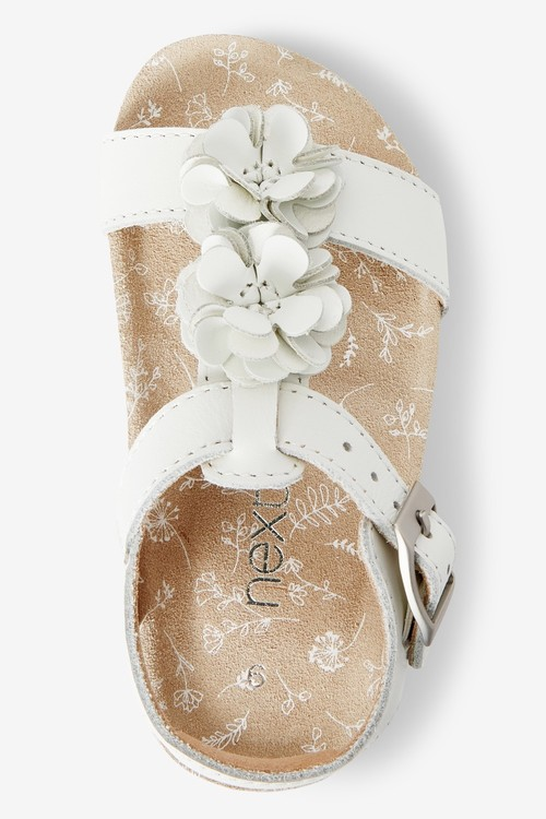 Next Flower Sandals (Younger)-Wide Fit