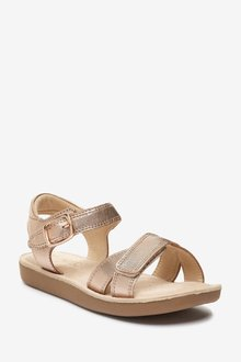 Next Premium Leather Cross Strap Sandals (Younger) - 291701