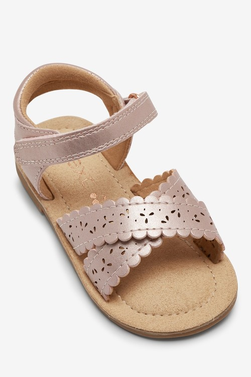 Next Scallop Sandals (Younger)-Wide Fit