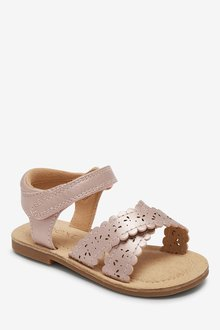 Next Scallop Sandals (Younger)-Wide Fit - 291703