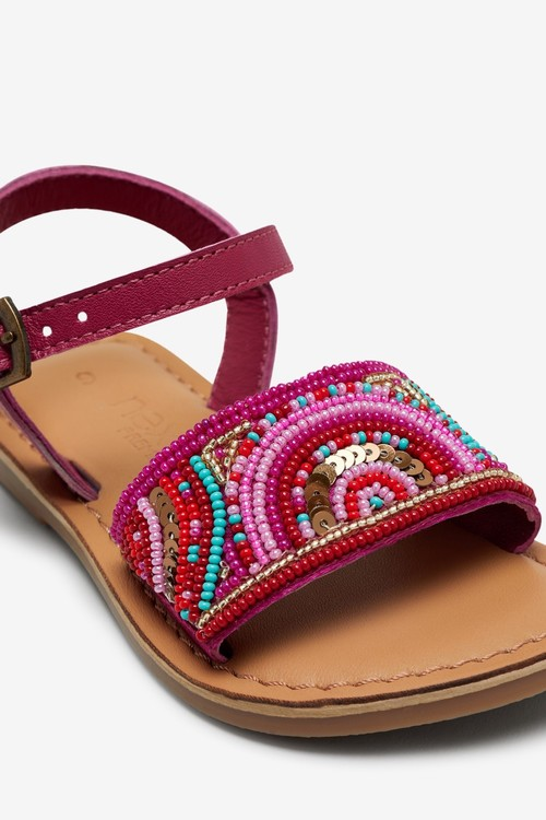 Next Leather Beaded Sandals (Younger)