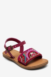 Next Leather Beaded Sandals (Younger) - 291706