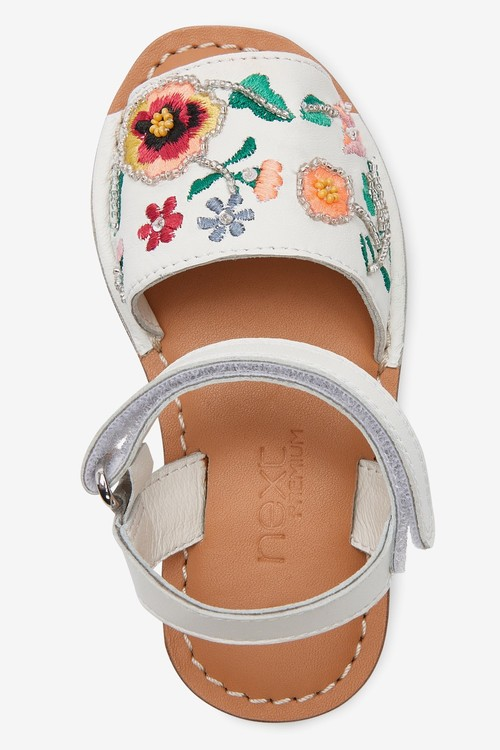 Next Embellished Leather Menorcan Style Sandals (Younger)