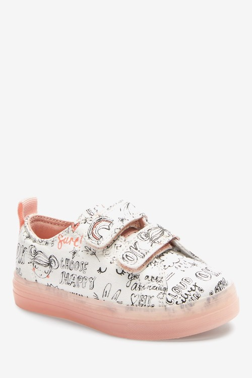 Next Touch Fastening Canvas Trainers (Younger)