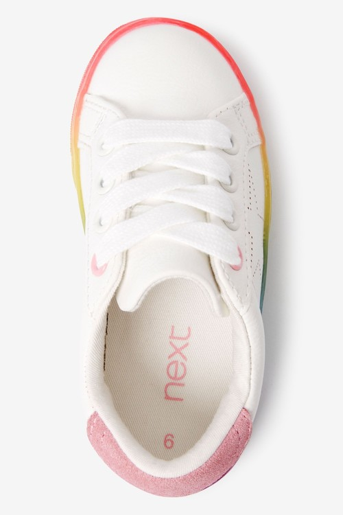 Next Rainbow Sole Lace Up Trainers (Younger)