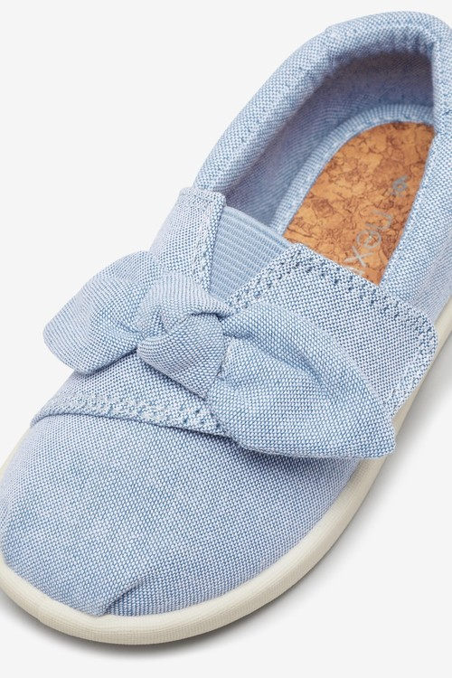 Next Canvas Bow Pumps (Younger)