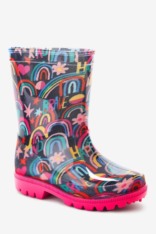 Next Rainbow Doodle Wellies (Younger)