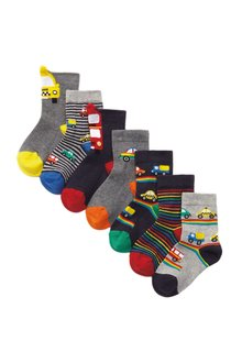 Next 7 Pack Cotton Rich Transport Socks (Younger) - 291749