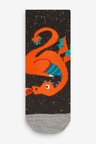 Next 5 Pack Dragon Cotton Rich Socks (Younger)