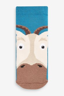 Next 5 Pack Farm Animal Cotton Rich Cushioned Socks (Younger) - 291751