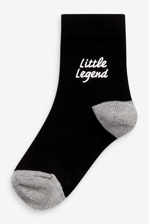 Next 7 Pack Cotton Rich Slogan Socks (Younger)
