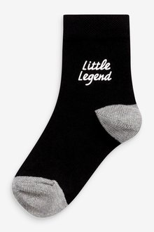 Next 7 Pack Cotton Rich Slogan Socks (Younger) - 291752