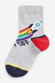 Next 7 Pack Rocket Cotton Rich Socks (Younger) - 291753