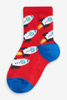 Next 7 Pack Rocket Cotton Rich Socks (Younger)