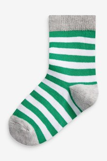 Next 7 Pack Stripe Cotton Rich Socks (Younger) - 291758