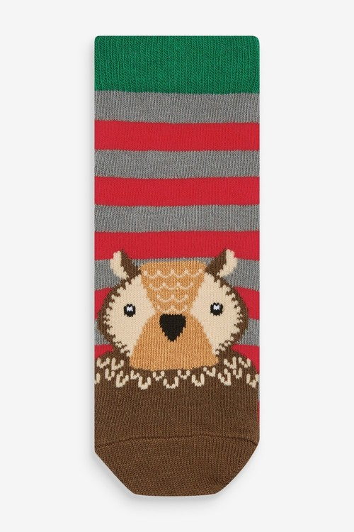 Next 5 Pack Woodland Animal Bamboo Rich Socks (Younger)