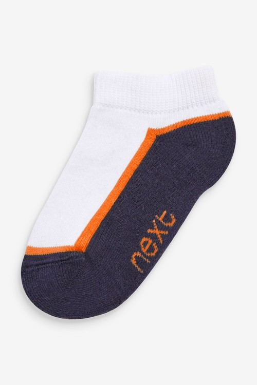Next 7 Pack Cotton Rich Cushioned Trainer Socks (Younger)