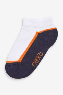Next 7 Pack Cotton Rich Cushioned Trainer Socks (Younger) - 291775