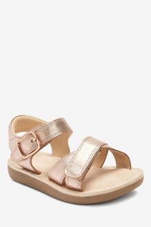 Next Premium Leather Cross Strap Sandals (Younger)-Wide Fit - 291788