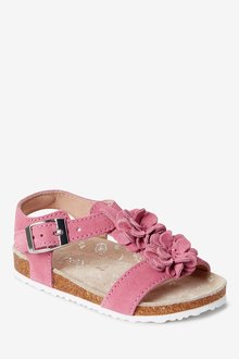 Next Leather Flower Sandals (Younger) - 291791