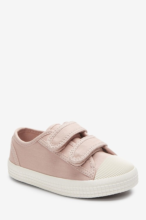 Next Canvas Bumper Toe Trainers (Younger)-Wide Fit