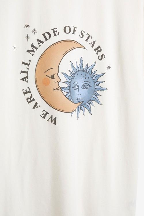 Next Oversized Moon/Stars Graphic T-Shirt