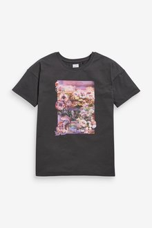 Next Oversized Floral Graphic T-Shirt - 291823