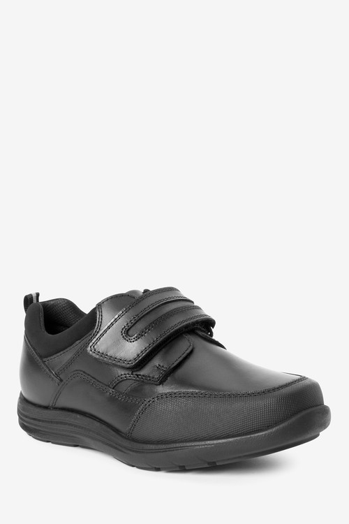 Next Leather Single Strap Shoes (Older)-Extra wide